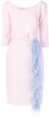 Prada Feather Trim Dress