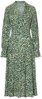 Winser London Mini Rose Print Midi Wrap Dress