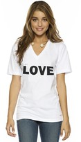 Peace Love World I am Love V-Neck Tee