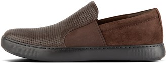 FitFlop Collins Mens Weave-Embossed Leather Slip-On Skate Shoes