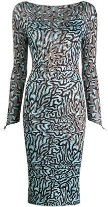 MAISIE WILEN Mixed Print Fitted Dress