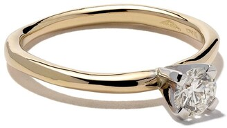 Wouters & Hendrix Gold 18kt yellow and white gold Diamond ring