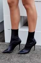Tony Bianco Davis Boots Black Stretch Satin