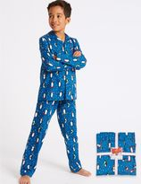 Marks and Spencer Pure Cotton Penguin Pyjamas (1-16 Years)
