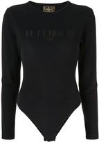 Long-Sleeved Logo Bodysuit
