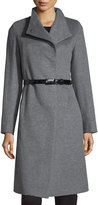Cinzia Rocca A-Line Wool Coat, Light Gray