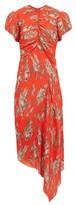 Preen by Thornton Bregazzi Jane Floral-print Plisse-chiffon Dress - Womens - Orange Multi