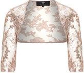 Ariella Plus Size Floral sequinned bolero