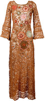 Anjuna - floral embroidery dress - women - Cotton/Polyamide/Polyester - XS