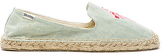 Soludos Flamingo Embroidered Espadrille