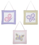 JoJo Designs Sweet Pink and Lavender Butterfly Wall Hangings