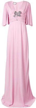 Gucci Bow-Detail Flared Maxi Dress