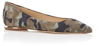 Marion Parke Must Have Flat | Camo Suede Classic Pointy Toe Flat