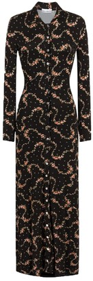 Paco Rabanne Maxi Floral Shirt Dress