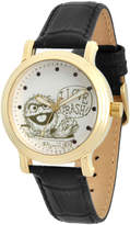 EWatchFactory Gold & Black Oscar the Grouch Leather-Strap Watch - Girls