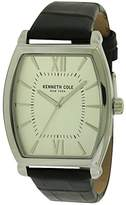 Kenneth Cole Men's Brown Leather Band Steel Case Quartz -Tone Dial Analog Watch 10031320