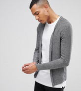 Selected Homme Tall Open Drape Cardigan In 100% Cotton