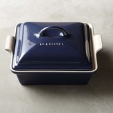 Le Creuset Stoneware Shallow Square Covered Baker, Midnight Blue