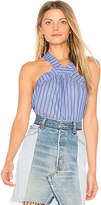 Central Park West Vero Beach Halter Tank in Blue. - size L (also in M,S,XS)