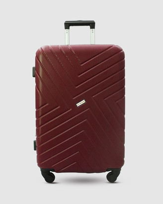 Jett Black Merlot Maze Luggage Set