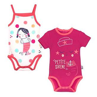 Camilla And Marc Pack of 2 Short-Sleeved Bodies and Baby Girl Water Tank Top, Size: 3 Months (62 cm)