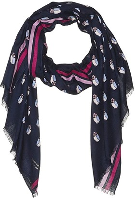 Kate Spade Night Owls Oblong Scarf (Squid Ink) Scarves