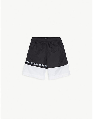 Balmain Logo shell swim shorts 4-16 years