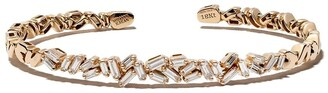 Suzanne Kalan 18kt rose gold Fireworks Classic diamond baguette bangle