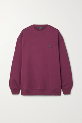 Acne Studios Appliqued Cotton-jersey Sweatshirt - Magenta