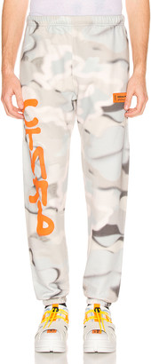 Heron Preston Camo Sweatpants in Multi & Orange | FWRD
