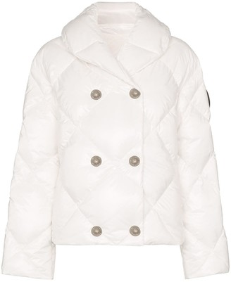 Balmain Double-Breasted Button-Embellished Quilted Jacket