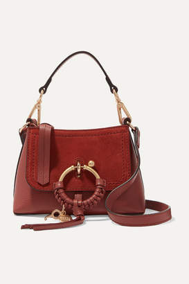 See by Chloe Joan Mini Textured-leather And Suede Shoulder Bag - Brown