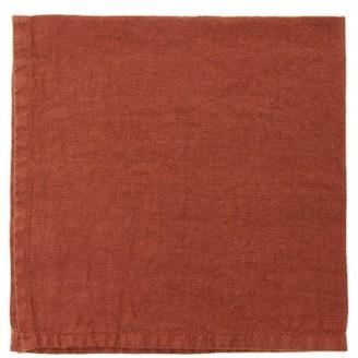 Once Milano - Set Of Four Linen Napkins - Dark Orange