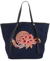 See by Chloe Andy Floral Denim Tote Bag