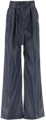 MSGM Wide-Leg Belted Pants