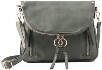 Violet Ray Zipper Flap Messenger Bag - Kimmie