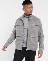 Asos Design DESIGN two-piece check harrington jacket