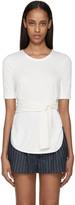 3.1 Phillip Lim Ivory Knit Tie Front T-shirt