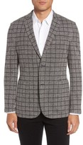 Vince Camuto Men's Del Aria Slim Fit Check Knit Jacket