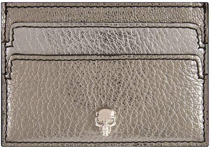 Alexander McQueen Leather Skull Card Holder