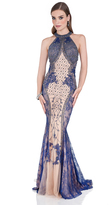 Terani Evening - Elaborately Beaded Halter Neck Long Gown 1611E0196A