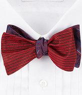 Daniel Cremieux Reversible Paisley Stripe Combo Silk Bow Tie
