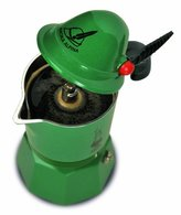 Bialetti – 2762 – Alpina – Espresso Maker for 3 Cups Aluminium Green