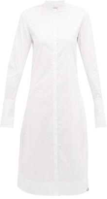 Marina Moscone - Wide-cuff Cotton-blend Shirtdress - Womens - White