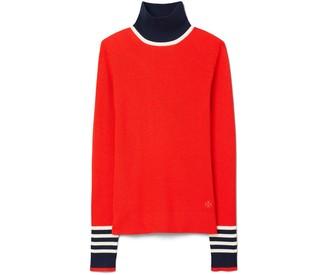 Tory Burch Merino Ribbed Turtleneck Sweater