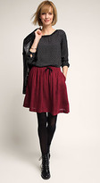 Esprit OUTLET pleated skirt w drawstring