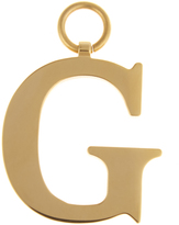 CHAOS G gold-plated charm