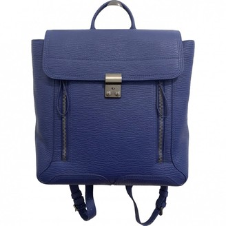 3.1 Phillip Lim Pashli Blue Leather Backpacks