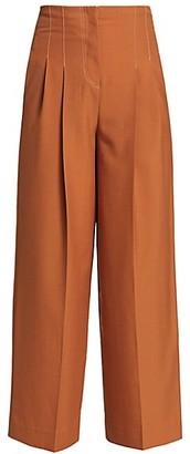 LVIR Pleasant Utility Wool Contrast Stitch Wide Pants