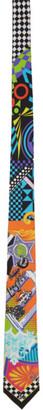 Versace Multicolor Pop Temple Print Tie